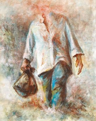 吳耀忠畫作《革命者》。
