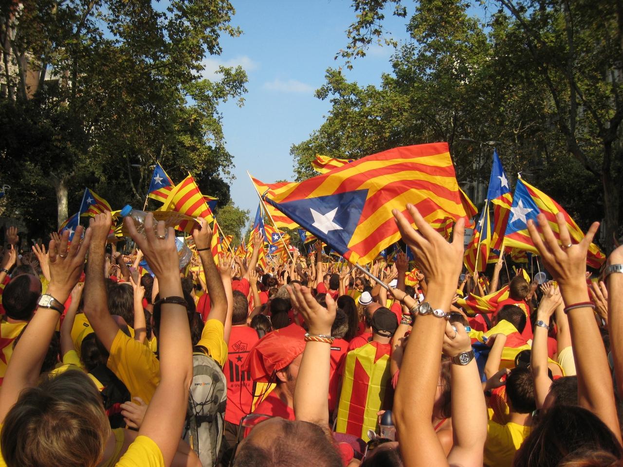 加泰羅尼亞在2014年上一次獨立公投前的示威。(Joan Campderrós-i-Canas / Flickr)